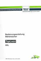 TOPLINER 8 XL - Bedienungsanleitung