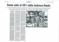 SAME sale al 36 % nella tedesca Deutz
