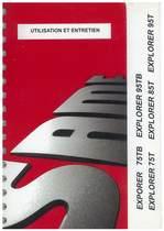 EXPLORER 75 - 95 TB - EXPLORER 75 - 85 - 95 T - Utilisation et entretien