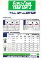 DEUTZ-FAHR SERIE 3000 S Tracteur Standard