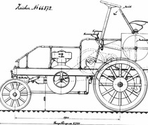 [Deutz] disegno tecnico del prototipo di trattorino Deutz con motore a benzina da 25 CV