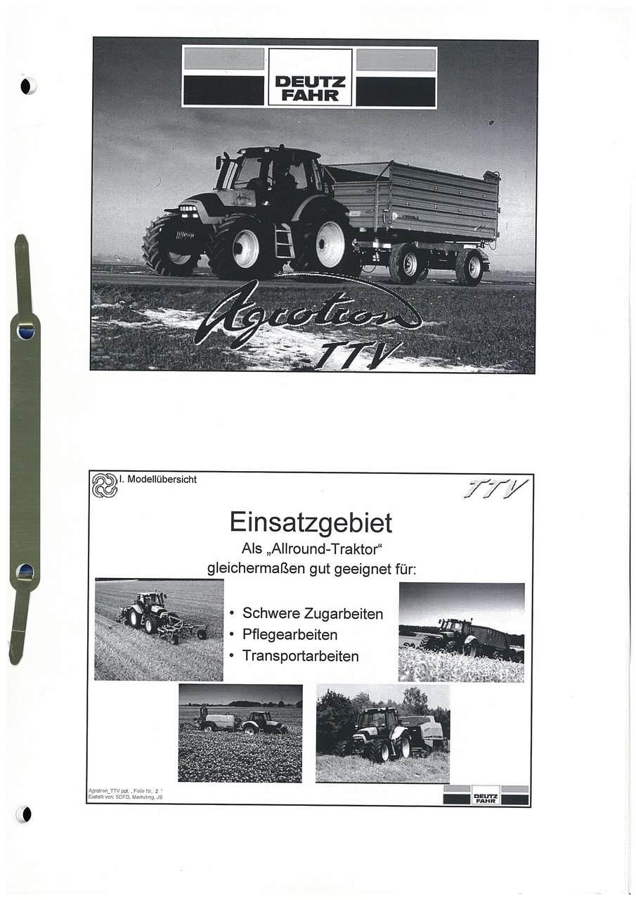 Agrotron TTV - Einsatzgebiet