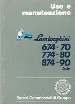 674.70 - 774.80 - 874.90 TURBO - Libretto Uso & Manutenzione