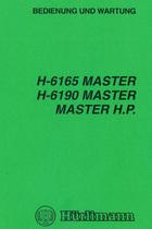 H 6165 MASTER - H 6190 MASTER - MASTER H.P. - Bedienung und Wartung