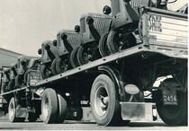 Stabilimento Same - Partenza dei trattori verso i clienti