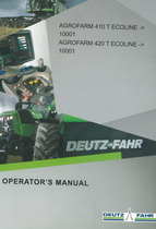 AGROFARM 410 T ECOLINE ->10001 - AGROFARM 420 T ECOLINE ->10001 - Operator's manual