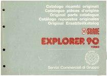 EXPLORER 90 Turbo - Catalogo Parti di Ricambio / Catalogue de pièces de rechange / Spare parts catalogue / Ersatzteilliste / Lista de repuestos / Catálogo peças originais