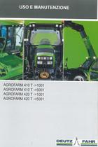 AGROFARM 410 T ->1001 - AGROFARM 410 T ->5001 - AGROFARM 420 T ->1001 - AGROFARM 420 T ->5001 - Uso e manutenzione