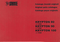 KRYPTON 80-90-100 - Catalogo Parti di Ricambio / Spare parts catalogue / Lista de repuestos