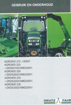 AGROKID 210 ->20001 - AGROKID 220 ->ZKDS2102V0MD20001 - AGROKID 220 ->ZKDS2902V0MD20001 - AGROKID 230 ->ZKDS2202V0MD20001 - AGROKID 230 ->ZKDS3002V0MD20001 - Gebruik en onderhoud