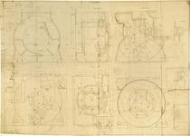 Motore T 901 - Basamento - Disegno n. 658