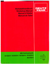 M 1322-1610-1620-1630-2780 H - Werkstatthandbuch / Workshop manual / Manuel d'atelier / Manual de taller