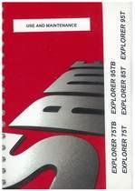 EXPLORER 75 - 85 - 95 T - EXPLORER 75 - 95 TB - Use and maintenance