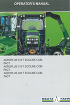 AGROPLUS 310 F ECOLINE COMPACT - AGROPLUS 315 F ECOLINE COMPACT - AGROPLUS 320 F ECOLINE COMPACT - Operator's manual