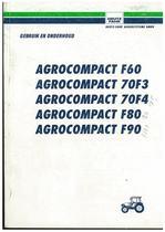 AGROCOMPACT F60 - F70 - 70F3 - 70F4 - F80 - F90 - Gebruik en onderhoud