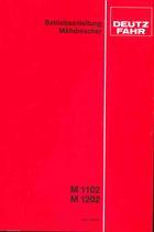 M 1102 - M 1202 - Betriebsanleitung