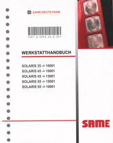 SOLARIS 35 ->10001 - SOLARIS 45 ->10001 - SOLARIS 45 ->15001 - SOLARIS 55 ->15001 - SOLARIS 55 ->10001 - Werkstatthandbuch