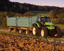 [Deutz-Fahr] trattore Agrotron 195 con rimorchio caricapaglia