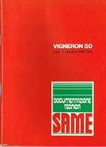 VIGNERON 50 - Uso y manutencion