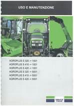 AGROPLUS S 320-410-420 M - Libretto Uso & Manutenzione