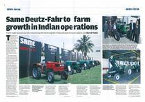 SAME Deutz-Fahr to farm growth in Indian operation