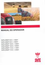 EXPLORER³ 85 E ->50001 - EXPLORER³ 85 E ->60001 - EXPLORER³ 100 E ->50001 - EXPLORER³ 100 E ->60001 - EXPLORER³ 115 E ->10001 - EXPLORER³ 115 E ->20001 - Manual do operador