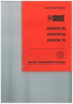 ARGON 50 - 60 - 70 - Uso e manutençao