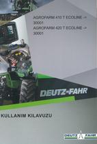 AGROFARM 410 T ECOLINE ->30001 - AGROFARM 420 T ECOLINE ->30001 - Kullanim kilavuzu