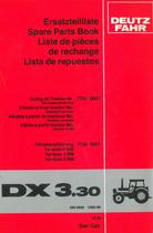 DX 3.30 - Ersatzteilliste / Spare parts book / Liste de pièces de rechange / Lista de repuestos