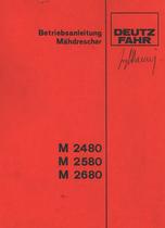M 2480 - M 2580 - M 2680 - Betriebsanleitung