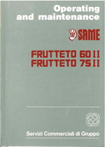 FRUTTETO 60 II - 75 II - Operating and maintenance