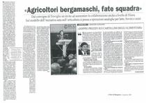 """Agricoltori bergamaschi, fate squadra"""
