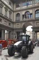 150° anniversario della trebbiatrice meccanica - Accademia dei Georgofili con Same Deutz- Fahr e CAMAE (Club Amatori Macchine Agricole d'Epoca)