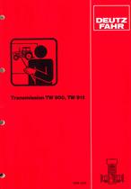 Transmission TW 900 - TW 911 - Service training