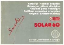 SOLAR 60 - Catalogo ricambi originali / Catalogue pièces d'origine / Original parts catalogue / Catàlogo repuestos originales / Orignal Ersatzteilkatalog