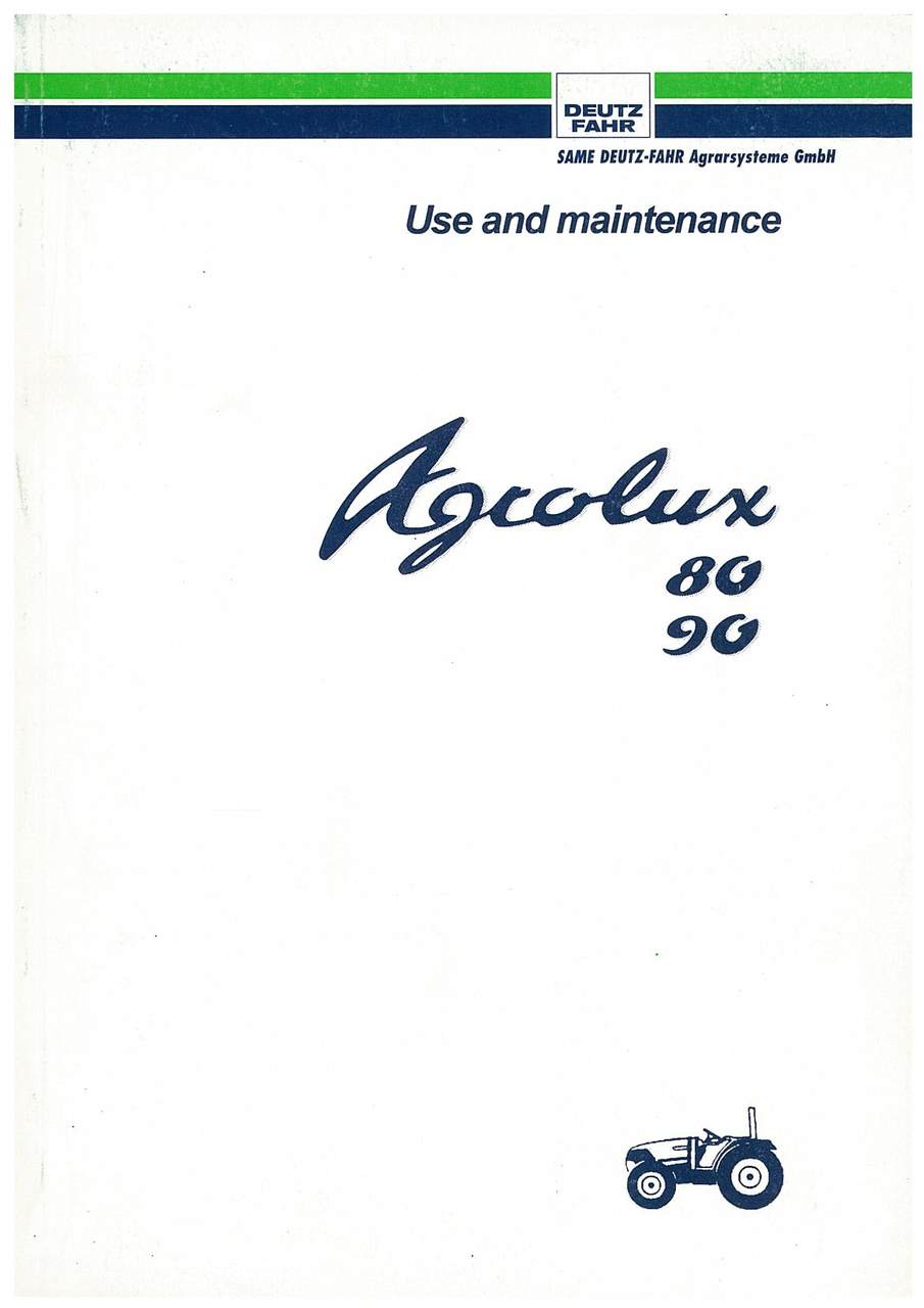 AGROLUX 80-90 - Operating and Maintenance