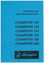 CHAMPION 120 - 135 - 150 - 160 - 180 - 200 - Bedienung und Wartung