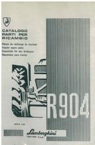 R 904 - Catalogo Parti di Ricambio / Pièces de Rechange du Tracteur / Tractor Spare Parts / Ersatzteile für den Schleppers / Repuestos para Tractor
