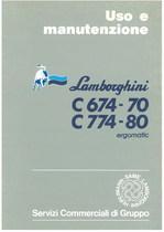 C 674 - 70 - C 774 - 80 ERGOMATIC - Libretto Uso & Manutenzione