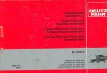 M 1610 S - Ersatzteilliste ab Masch. Nr. 6206-0101 / Spare parts list from Mach. Nr. 6206-0101 / Liste de pièces de rechange à partir de Mach. No. 6206-0101 / Lista de piezas de recambio a partir de Maquina No. 6206-0101