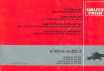 M 1302 HA - M 1322 HA - Ersatzteilliste Allradantrieb / Spare parts list four-wheel drive / Liste de pièces de rechange execution toutes roues motrices / Lista de piezas de recambio version de traccion universal