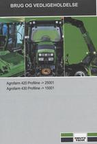 AGROFARM 420 PROFILINE ->25001 - AGROFARM 430 PROFILINE ->15001 - Brug og vedligeholdelse