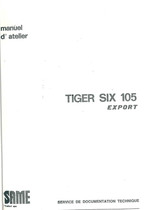 TIGER SIX 105 EXPORT - Manuel d'atelier