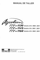 AGROTRON TTV 1130 desde el N. 8060 2001 - AGROTRON TTV 1145 desde el N. 8061 2001 - AGROTRON TTV 1160 desde el N. 8062 2001 - Manual de taller