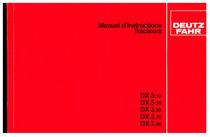 DX 3.10-3.30-3.50-3.70-3.90 - Utilisation et Entretien