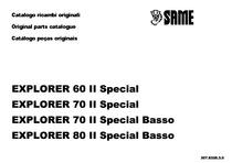 EXPLORER 60 II SPECIAL-70 II SPECIAL-70 II SPECIAL BASSO-80 II SPECIAL BASSO - Catalogo Parti di Ricambio / Spare parts catalogue / Catálogo peças originais