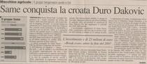 SAME conquista la croata Duro Dakovic