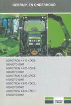 AGROTRON K 410 ->ZKDL380400TD10001 - AGROTRON K 420 ->ZKDL390400TD10001 - AGROTRON K 430 ->ZKDL410400TD10001 - AGROTRON K 610 ->ZKDL400400TD10001 - AGROTRON K 610 ->ZKDT670200TD10001 - Gebruik en onderhoud