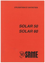 SOLAR 50 - SOLAR 60 - Utilisation et entretien