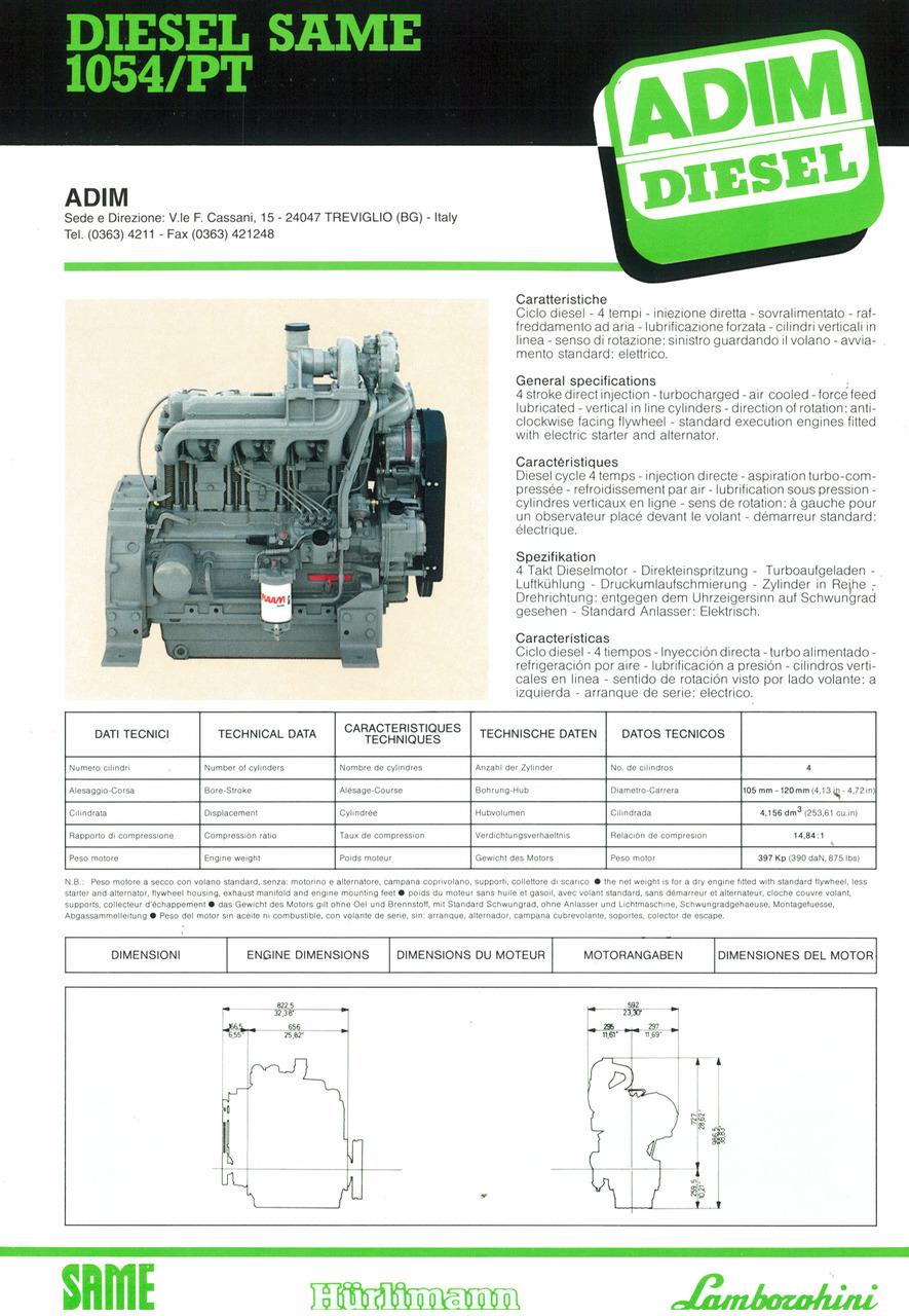Motore 1054/PT